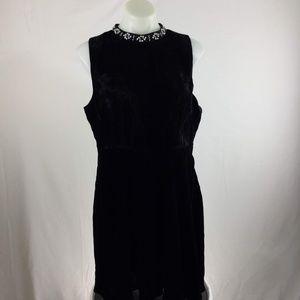 New Modcloth Sleeveless Black Velvet Dress